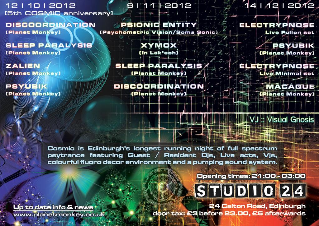 Cosmic flyer back - October/November/December 2012