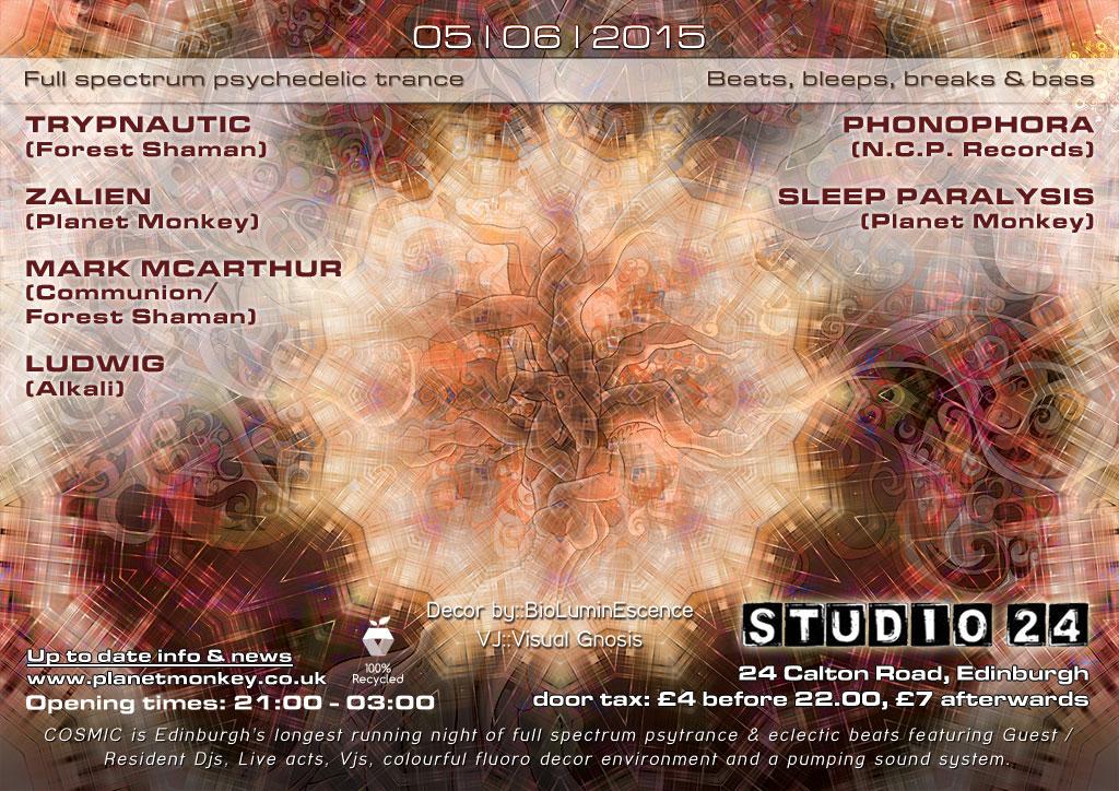 Cosmic flyer back - June 2015