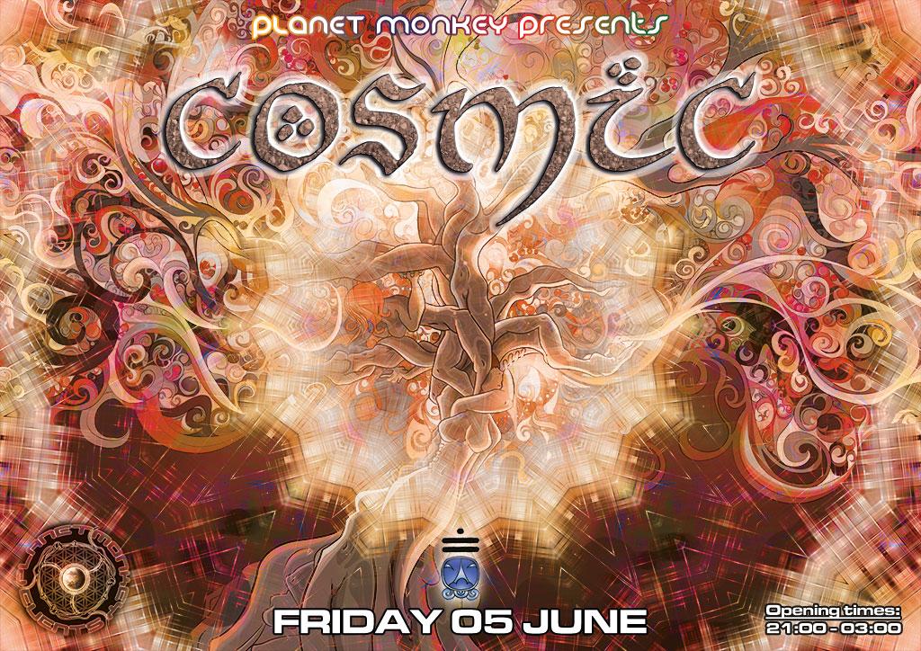 Cosmic flyer front - June 2015