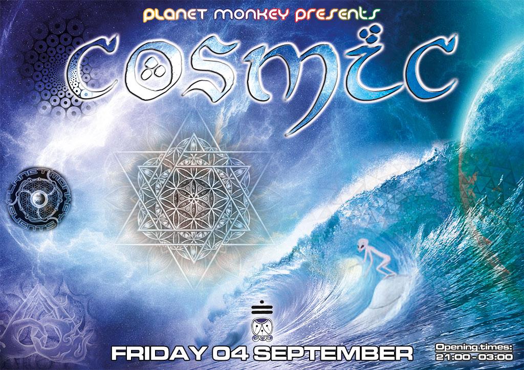 Cosmic flyer front - September 2015