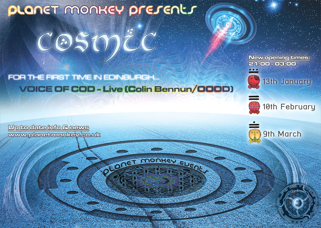 Cosmic flyer front - January/February/March 2012