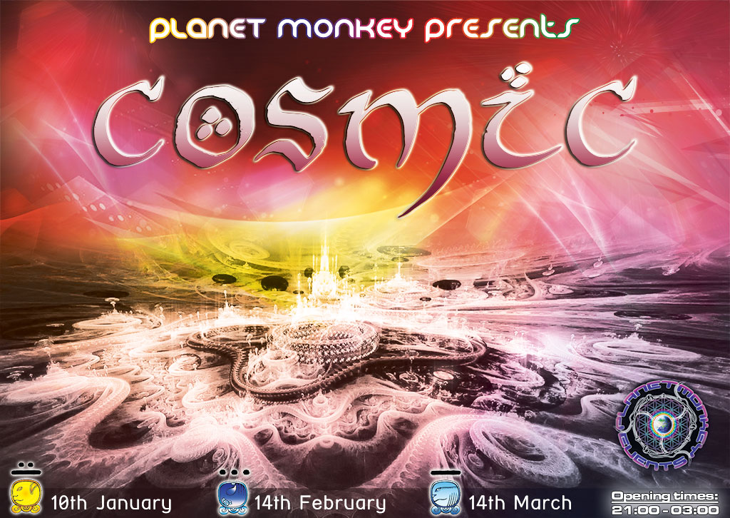 Cosmic flyer front - January/February/March 2014