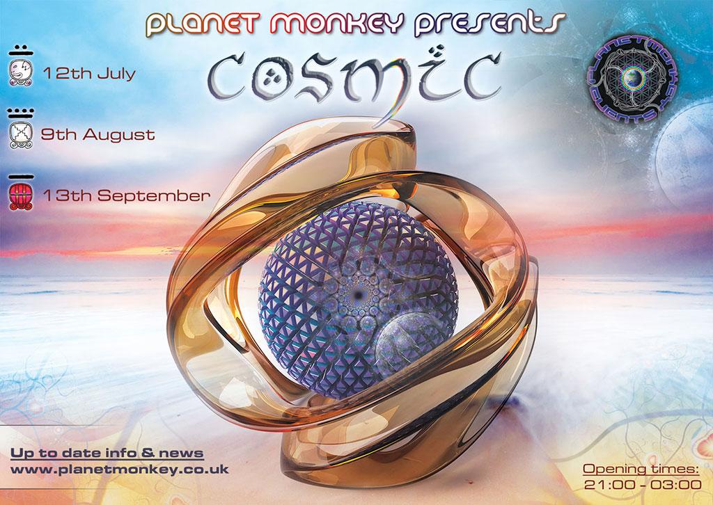 Cosmic flyer front - July/August/September 2013