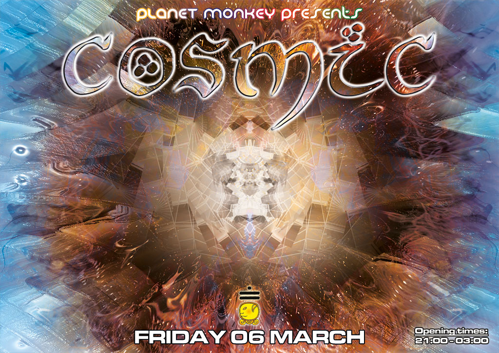 Cosmic flyer front - March 2015