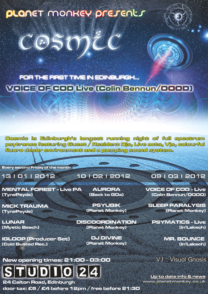Cosmic poster -January/February/March 2012