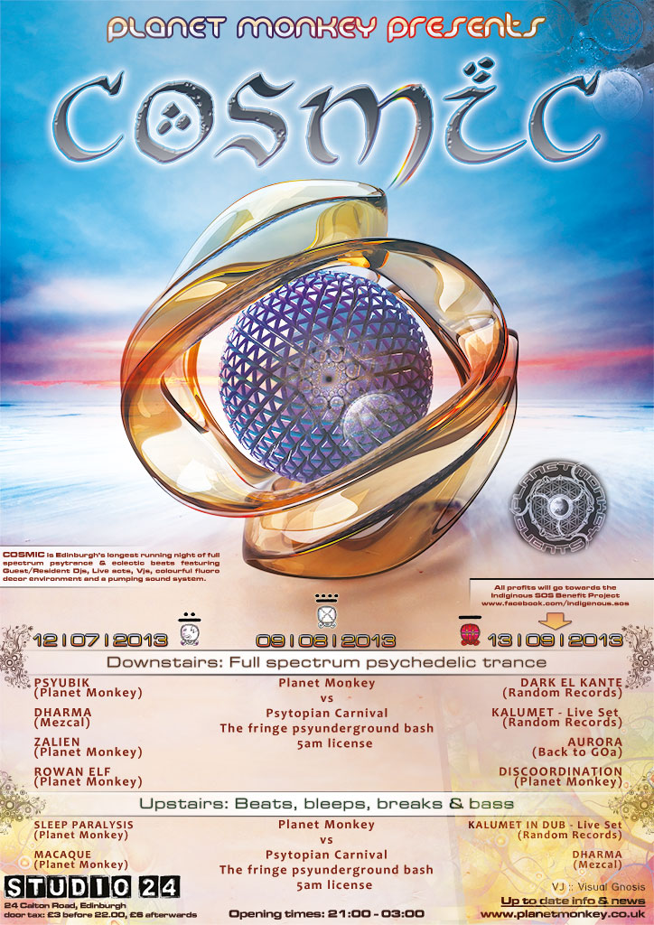 Cosmic poster - July/August/September 2013