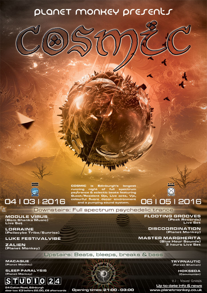 Cosmic poster - March/May 2016