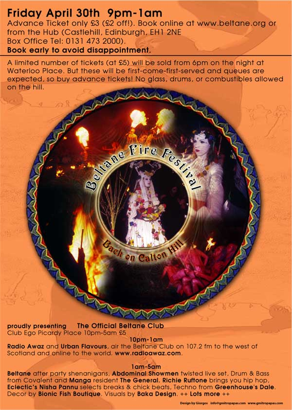 Beltane Fire Society 2004 poster