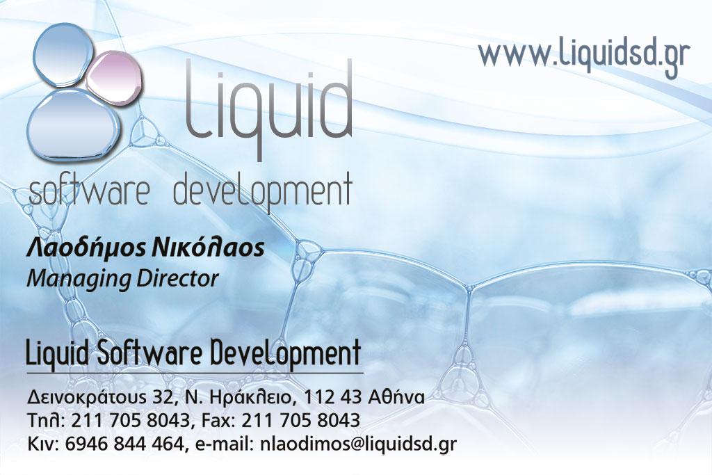 Liquid Software Development business card