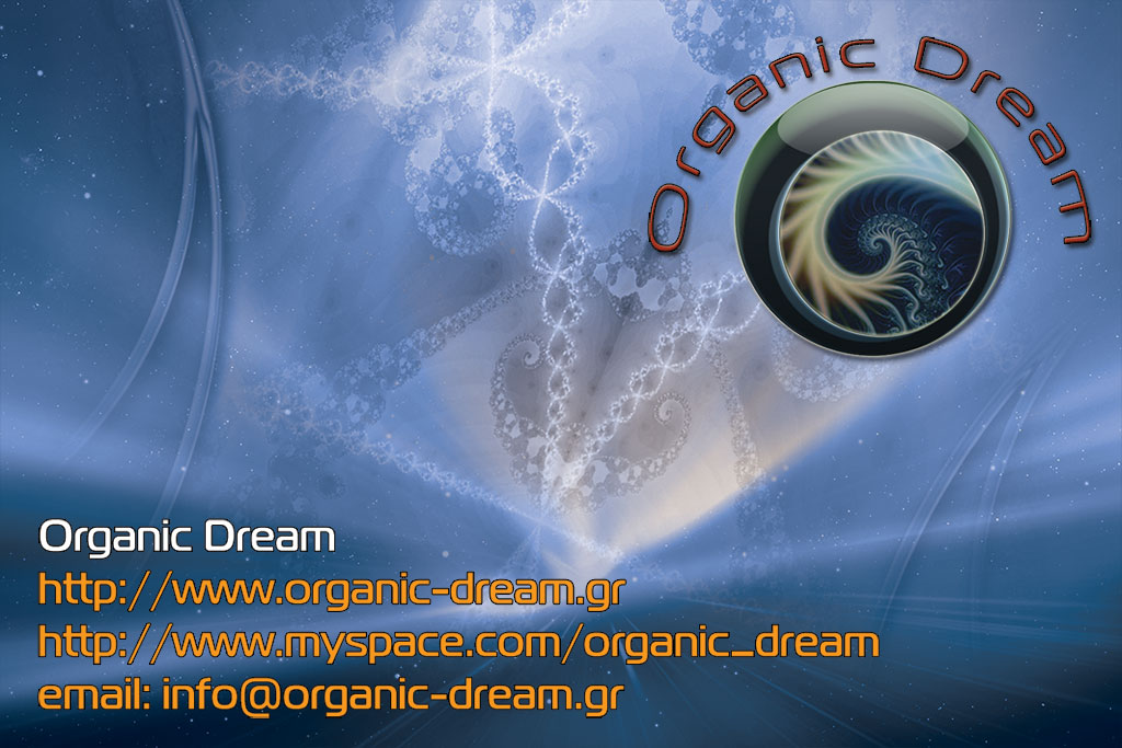 Organic Dream busines card back