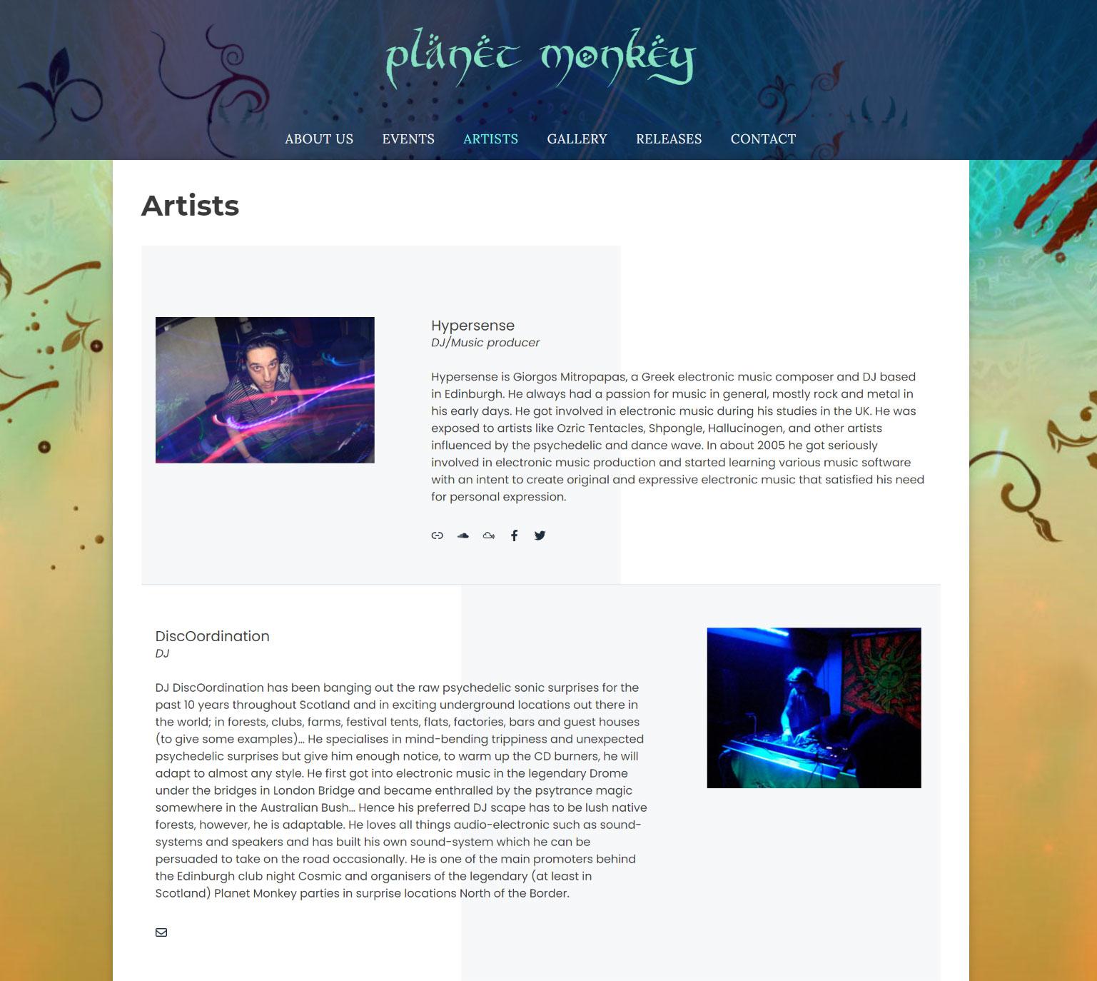 Planet Monkey homepage image
