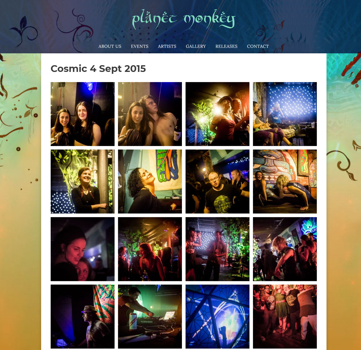 Planet Monkey artists page image