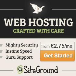 Siteground hosting banner