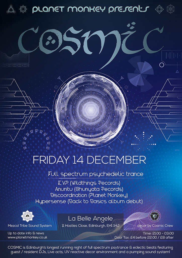 Cosmic poster - December 2018