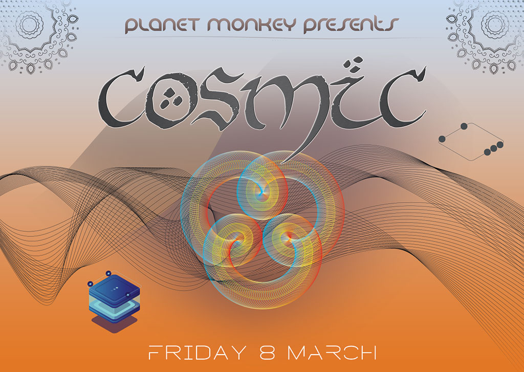 Cosmic flyer front - March 2019